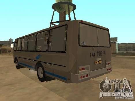 ПАЗ-4234 для GTA San Andreas вид сзади
