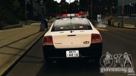 Dodge Charger Japanese Police [ELS] для GTA 4 вид сверху