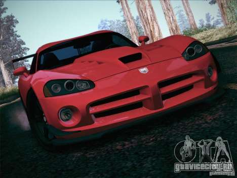 Dodge Viper SRT-10 ACR для GTA San Andreas двигатель