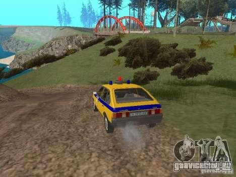 АЗЛК 2141 ГАИ для GTA San Andreas вид справа
