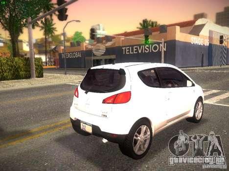 Mitsubishi Colt Rallyart для GTA San Andreas вид сзади слева