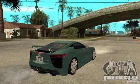 Lexus LFA 2010 для GTA San Andreas вид справа