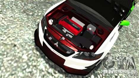 Mitsubishi Lancer Evo IX Tuning для GTA 4 вид сбоку