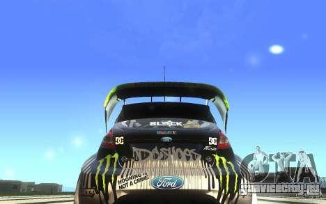 Ford Fiesta Gymkhana для GTA San Andreas вид справа