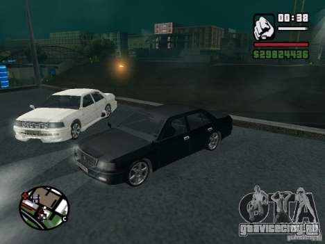 Toyota Crown Tunable для GTA San Andreas вид сзади