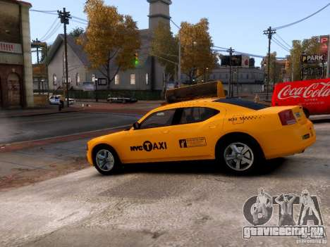 Dodge Charger NYC Taxi V.1.8 для GTA 4 вид сбоку