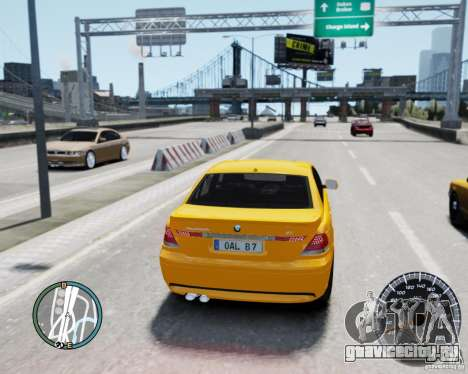 BMW Alpina B7 для GTA 4 вид сзади слева