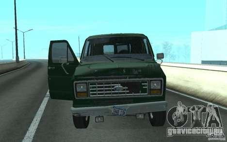 Ford E-150 Short Version v2 для GTA San Andreas вид сзади слева