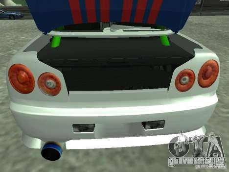 Nissan Skyline Indonesia Police для GTA San Andreas вид сзади