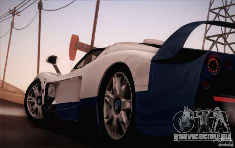 Maserati MC12 V1.0 для GTA San Andreas вид снизу