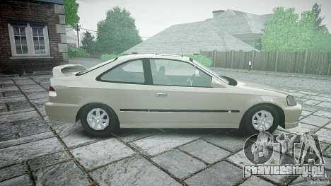 Honda Civic Coupe для GTA 4 вид слева
