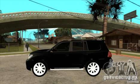 Lexus LX 570 2010 для GTA San Andreas вид слева