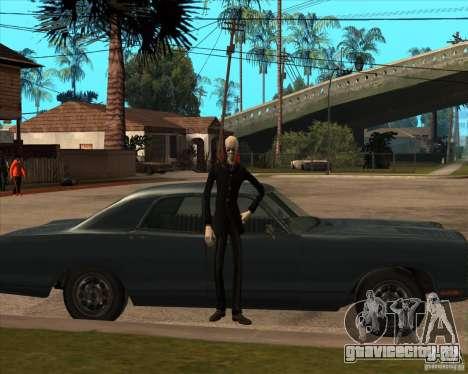 Слендер в темных очках для GTA San Andreas пятый скриншот