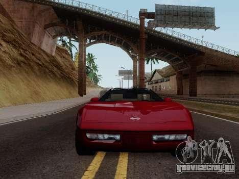 Chevrolet Corvette C4 1984 для GTA San Andreas вид сзади