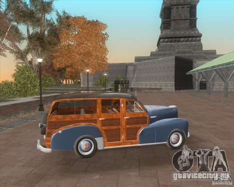 Chevrolet Fleetmaster 1948 для GTA San Andreas вид изнутри