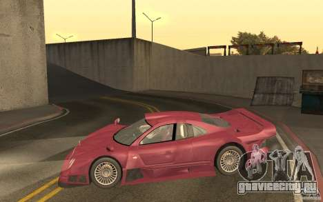 Mercedes-Benz CLK GTR road version (v2.0.0) для GTA San Andreas вид слева