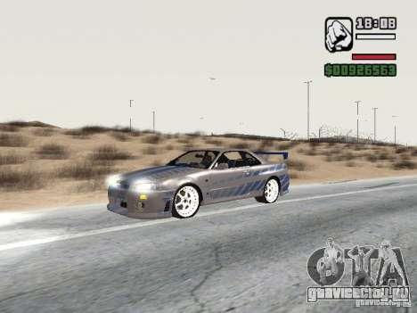 Nissan Skyline GTR34 FNF2 для GTA San Andreas