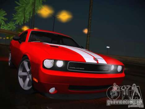 Dodge Challenger SRT8 v1.0 для GTA San Andreas вид изнутри