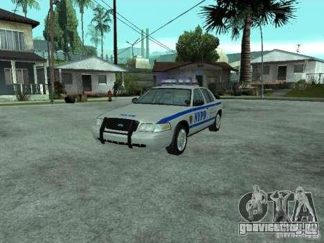 Ford Crown Victoria NYPD для GTA San Andreas