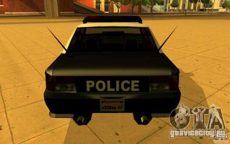 Sultan SFPD для GTA San Andreas вид слева