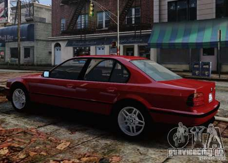 BMW 750i E38 1998 M-Packet для GTA 4 вид снизу