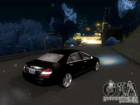 Mercedes-Benz S600 для GTA San Andreas вид снизу