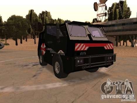 AM 7.0 Umbrella Corporation для GTA San Andreas вид сзади