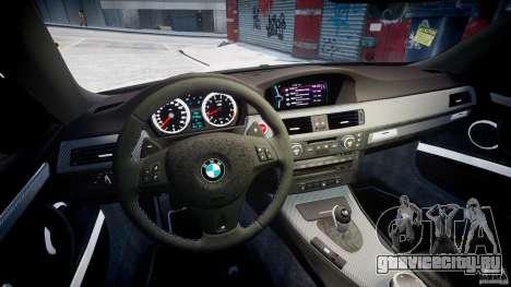 BMW M3 Hamann E92 для GTA 4 вид сзади