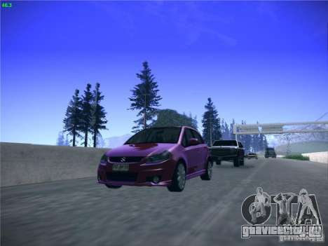 Suzuki SX4 2012 для GTA San Andreas вид сзади