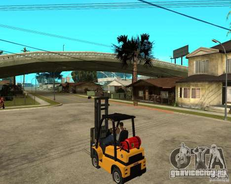 Forklift GTAIV для GTA San Andreas вид слева