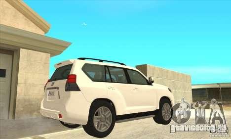 Toyota Land Cruiser Prado 150 для GTA San Andreas вид справа