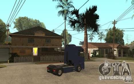 MAN TGX V8 для GTA San Andreas вид справа