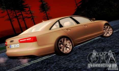 Audi A6 2012 для GTA San Andreas вид справа