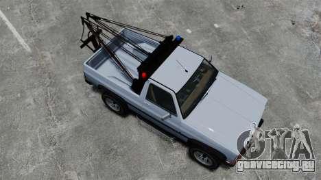 Rancher Tow Truck ELS для GTA 4 вид справа