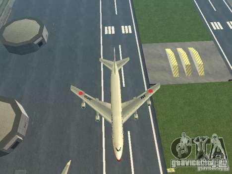 Boeing 747-100 Japan Airlines для GTA San Andreas вид изнутри