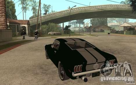 Ford Mustang TOKYO DRIFT для GTA San Andreas вид сзади слева