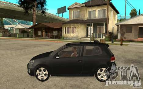 VW Golf 6 GTI для GTA San Andreas вид слева