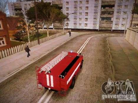 ГАЗ 53 АЦУ-30 Пожарная для GTA San Andreas вид сзади слева