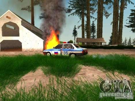 ВАЗ 2109 Полиция для GTA San Andreas вид сбоку