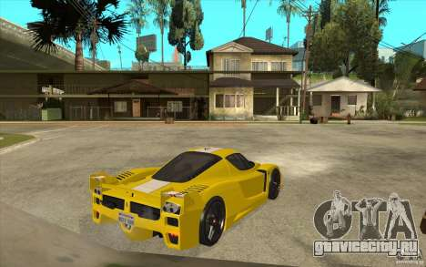 Ferrari FXX 2005 для GTA San Andreas вид сзади