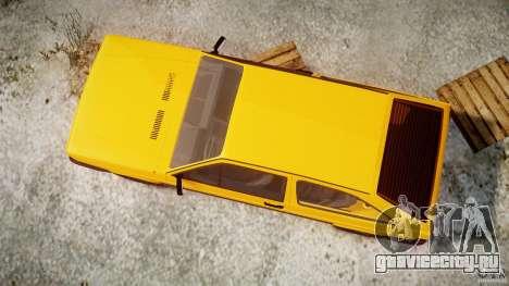 Volkswagen Gol GL для GTA 4 вид сбоку
