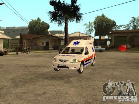Dacia Logan Ambulanta для GTA San Andreas вид сбоку