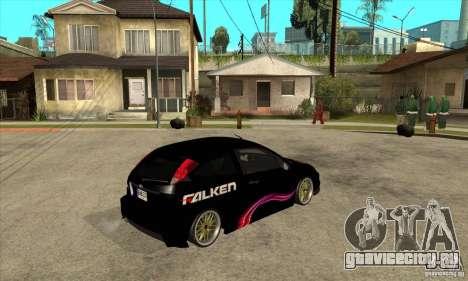 Ford Focus SVT для GTA San Andreas вид справа