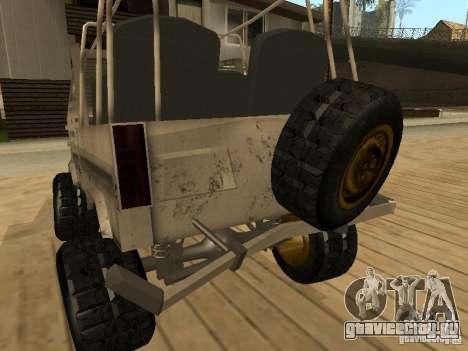 Луаз 969 Offroad для GTA San Andreas вид снизу