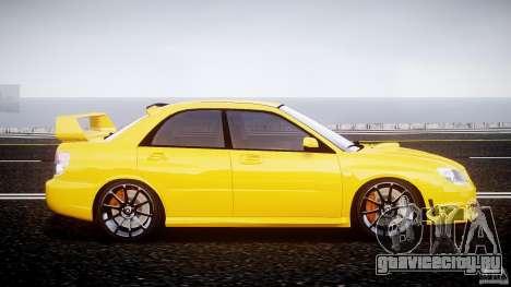 Subaru Impreza STI для GTA 4 вид изнутри