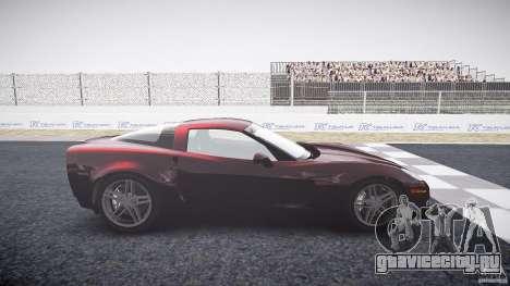 Chevrolet Corvette C6 Z06 для GTA 4 вид слева