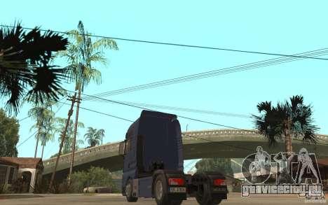MAN TGX V8 для GTA San Andreas вид сзади слева