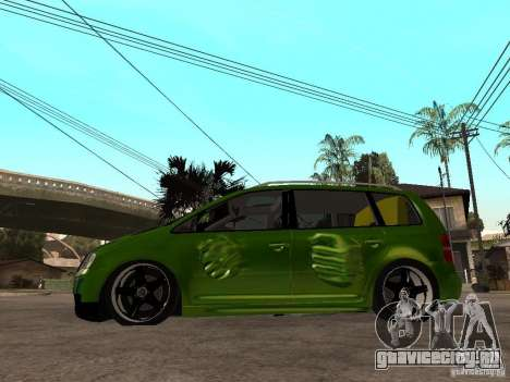 Volkswagen Touran The Hulk для GTA San Andreas вид слева