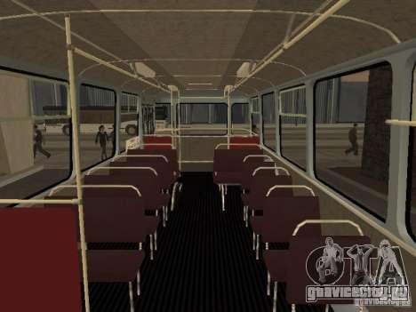 ЛиАЗ 677 для GTA San Andreas вид изнутри