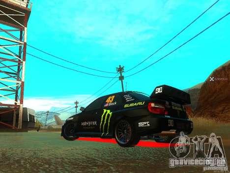Subaru Impreza Gymkhana Practice для GTA San Andreas вид сзади слева